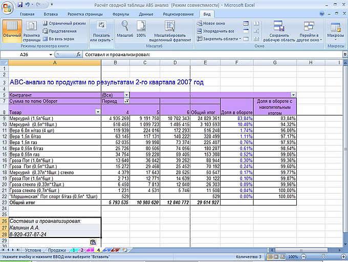 Как сделать abc анализ в excel 48